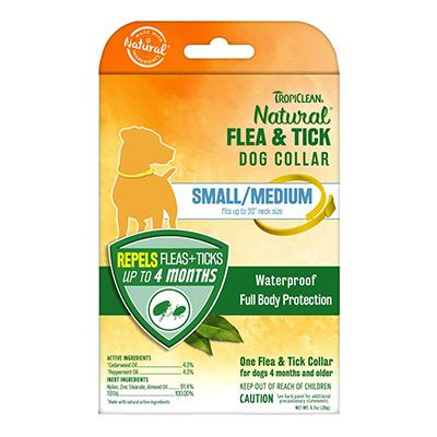TropiClean Herbal Large Dog Flea Collar Small Click for larger image