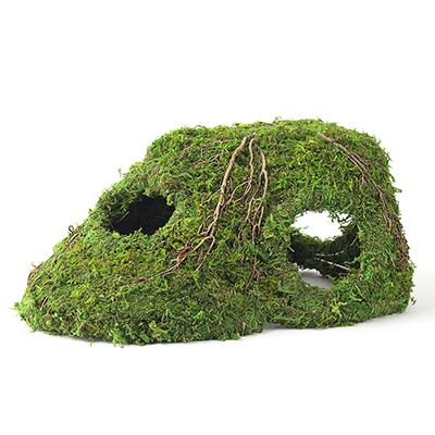 Galapagos Mossy Corner Hide Terrarium Decoration Click for larger image