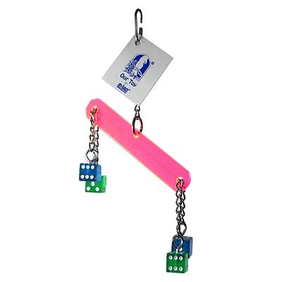 Acrylic Dicey Bar Made in USA Bird Toy Click for larger image