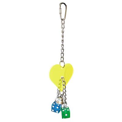 Acrylic Dicey Heart Made in USA Bird Toy