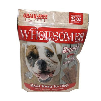 Bruno's Wholesomes Grain Free Pork Jerky For Dogs 25oz Click for larger image