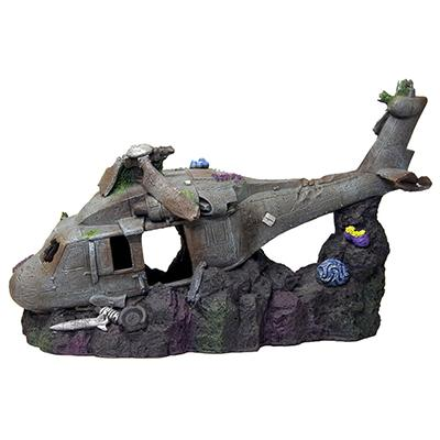 Exotic Environments Sunken Helicopter Aquarium Ornament Click for larger image