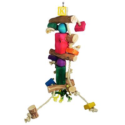 Baby Bubba Made in the USA Bird Toy for Small Birds Click for larger image