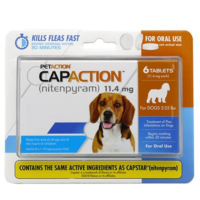 CapAction Oral Flea Treatment for Dogs Under 25Lbs. Click for larger image
