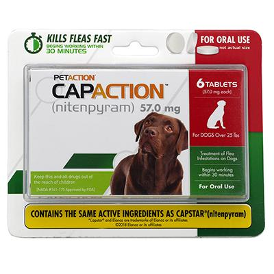 CapAction Oral Flea Treatment for Dogs Over 25Lbs. Click for larger image