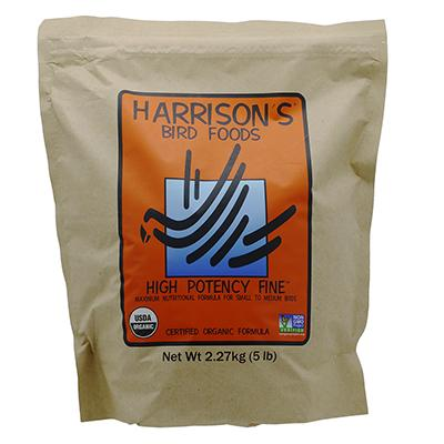 Harrisons High Potency Fine Organic Bird Food 5-Lb. Click for larger image