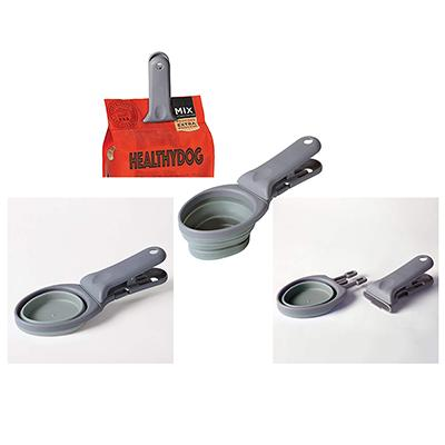 Clamp Scoop Collapsable Measuring Scoop and Bag Clamp