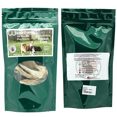 Dehydrated Rabbit Ears Natural Dog Treat 15 Pack