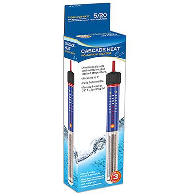 Submersible Heater 7in 25 Watt for 5 Gallon Aquarium Click for larger image