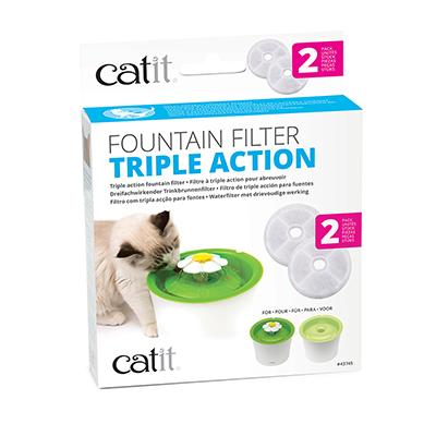 Catit Filter TripleAction 2pk Click for larger image