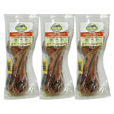Navus Naturals Spanish Serrano Ham Bone for Dogs 3 Pack