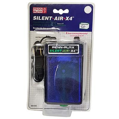 Penn Plax Aquarium Silent Air X4 Air Pump for Aquariums Click for larger image