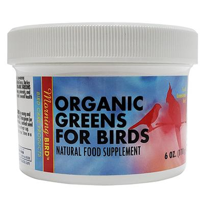 Morning Bird Organic Bird Greens Supplement for Birds 6oz Click for larger image