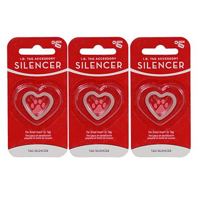 Dog Tag Silencer Heart Sm 3 Pack Click for larger image