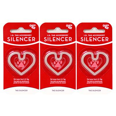 Heart ID Tag Silencer Large 3 Pack Click for larger image