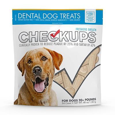 Checkups Dental Dog Treats 48oz 24 Treats Click for larger image