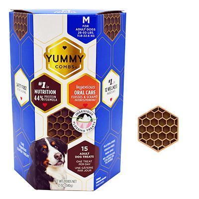 Yummy Combs Medium Dental Dog Treat 12oz Click for larger image