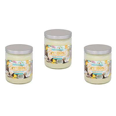Pet Odor Pina Colada Candle 3-Pack Click for larger image