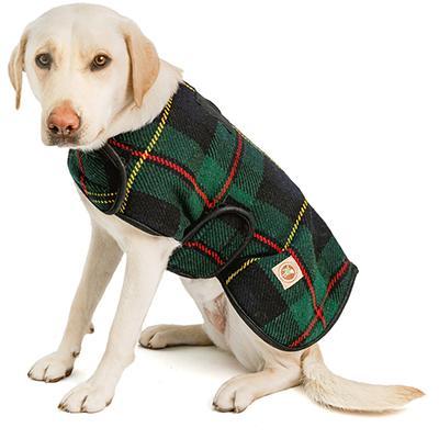 Handmade Dog Blanket Dog Coat Navy Tartan Med Click for larger image