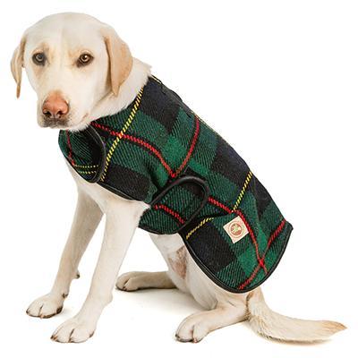 Handmade Dog Blanket Dog Coat Navy Tartan Large Click for larger image