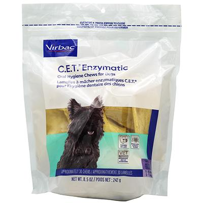 Virbac C.E.T. Dental Chews For Dogs Small 30 Count Click for larger image
