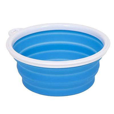 Silicone Pet Food Water Travel Bowl 1 Cup Click for larger image