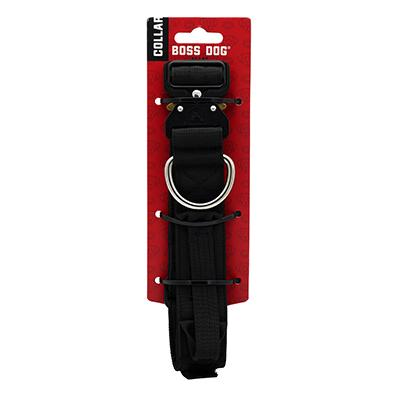 Boss Dog Tactical Collar Black 1.5-inch Click for larger image