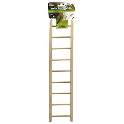 Bird Life 9 Step Wooden Bird Ladder Click for larger image
