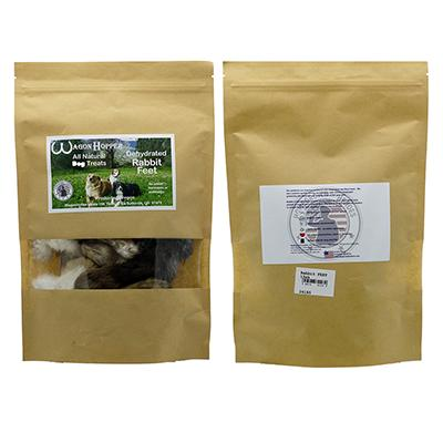 Dehydrated Rabbit FEET Natural Dog Treat 15 Pack Click for larger image