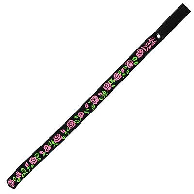 Beastie Band Cat Collar Pink Roses (Black) Click for larger image