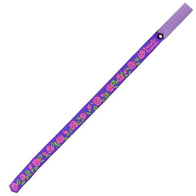 Beastie Band Cat Collar Pink Roses (Purple) Click for larger image