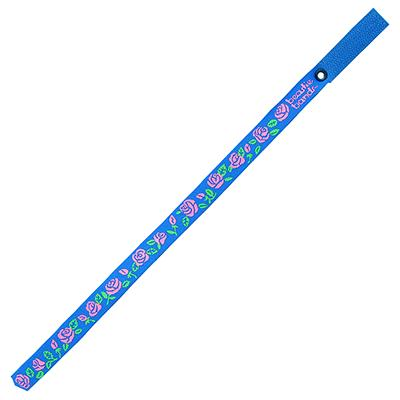 Beastie Band Cat Collar Pink Roses (Blue) Click for larger image