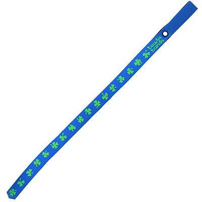 Beastie Band Cat Collar Shamrocks (Blue) Click for larger image