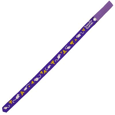 Beastie Band Cat Collar Mice and Cheese (Purple) Click for larger image