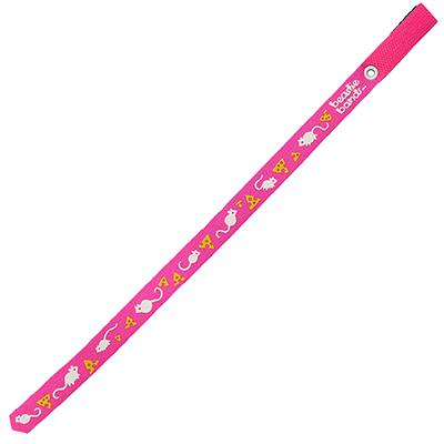 Beastie Band Cat Collar Mice and Cheese (Pink) Click for larger image