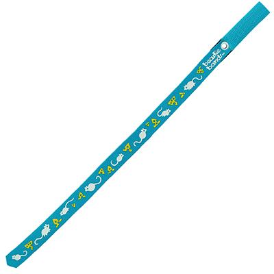 Beastie Band Cat Collar Mice and Cheese (Teal) Click for larger image