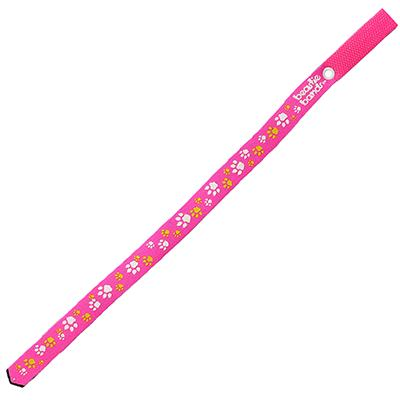 Beastie Band Cat Collar Paw Prints (Pink) Click for larger image