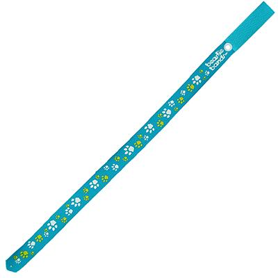 Beastie Band Cat Collar Paw Prints (Teal) Click for larger image