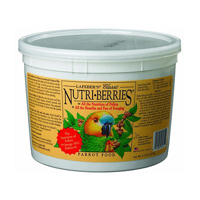 Lafeber NutriBerries Parrot 3.25 pound Food Click for larger image