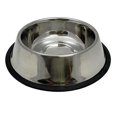 Steel Dog Bowl Non Skid 32 ounce