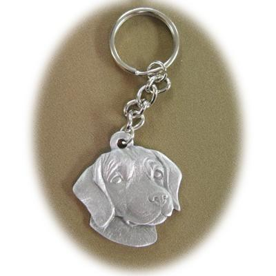 Pewter Key Chain I Love My Beagle