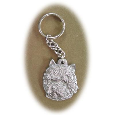 Pewter Key Chain I Love My Cairn Terrier