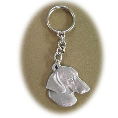 Pewter Key Chain I Love My Dachshund