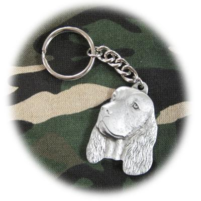 Pewter Key Chain I Love My English Springer