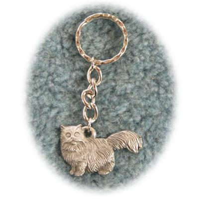 Pewter Key Chain I Love My Persian