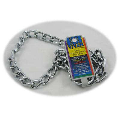 Coastal Titan Chrome Steel Dog Choke Chain XHeavy 30 inch
