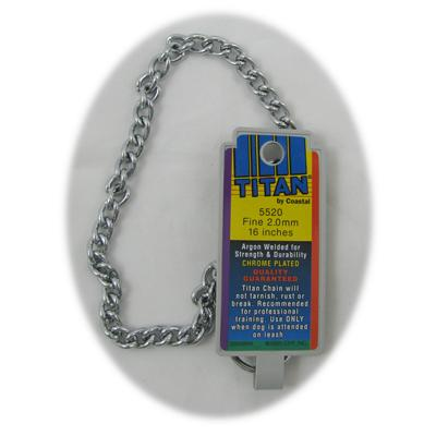 Coastal Titan Chrome Steel Dog Choke Chain Fine 16 inch Click for larger image