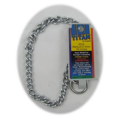 Coastal Titan Chrome Steel Dog Choke Chain Medium 16 inch