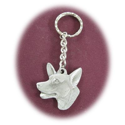 Pewter Key Chain I Love My Welsh Corgi
