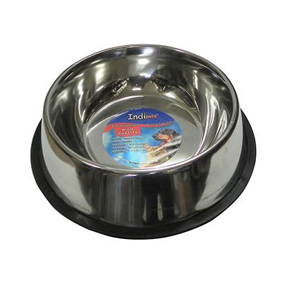 Steel Dog Bowl Non Skid 2 Quart (64 ounce)